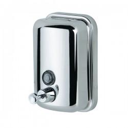 Дозатор 800 мл.  для жидкого мыла сталь хром