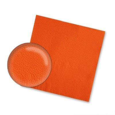 Салфетки Оранжевые    24*24,  1 сл, 400 л, 1/4 сл.