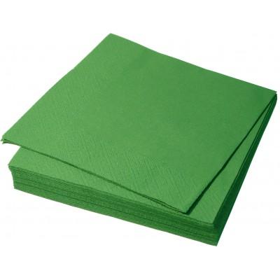 Салфетки столовые Зеленые  33*33  2 сл.