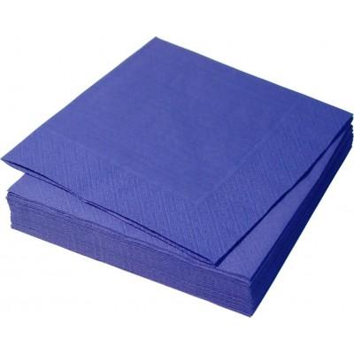 Салфетки столовые Синие 33*33     2 сл.