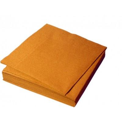 Салфетки столовые Оранжевые 33*33  2 сл.