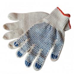 Перчатки ХБ  с ПВХ 3 нити 7,5 класс