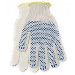 Перчатки ХБ  с ПВХ 4 нити 7,5 класс